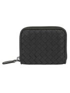 Bottega Veneta Nappa Coin Purse - Nero