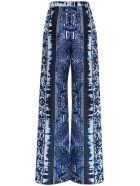 Alberta Ferretti Azulejos Silk Trousers - Blu