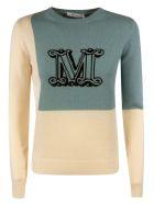 Max Mara M Knit Sweater - Light Beige/Blue