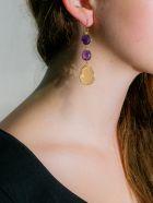 Bianca Baykam Crystal Detail Earrings - Viola Giallo