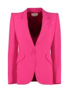 Alexander McQueen Single-breasted One Button Jacket - Fuchsia