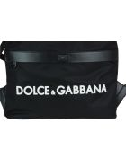 Dolce & Gabbana Logo Backpack - Black/white