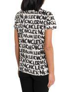 Moncler Allover Logo Tee - Bianco/nero