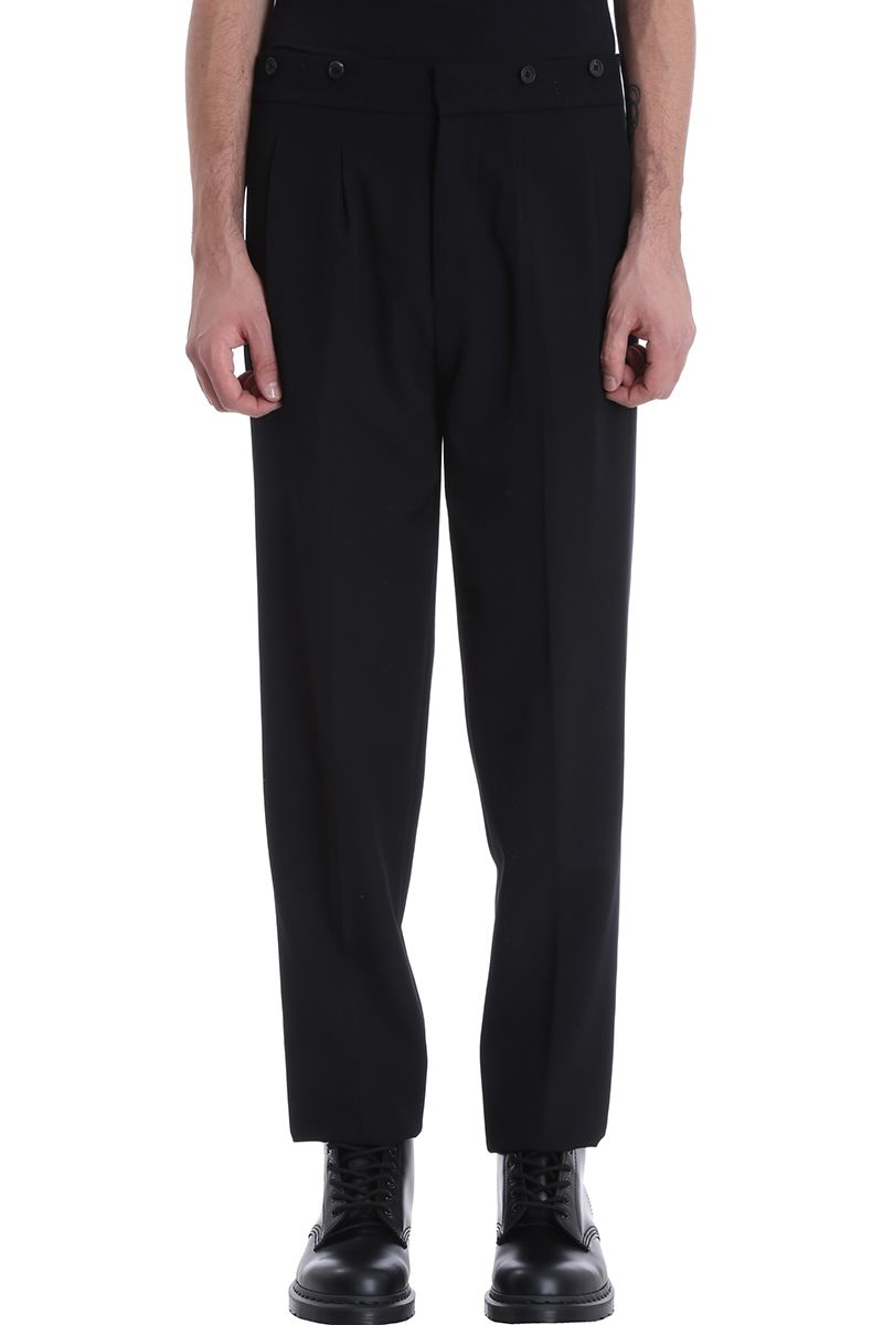 Helmut Lang Black Wool Pants
