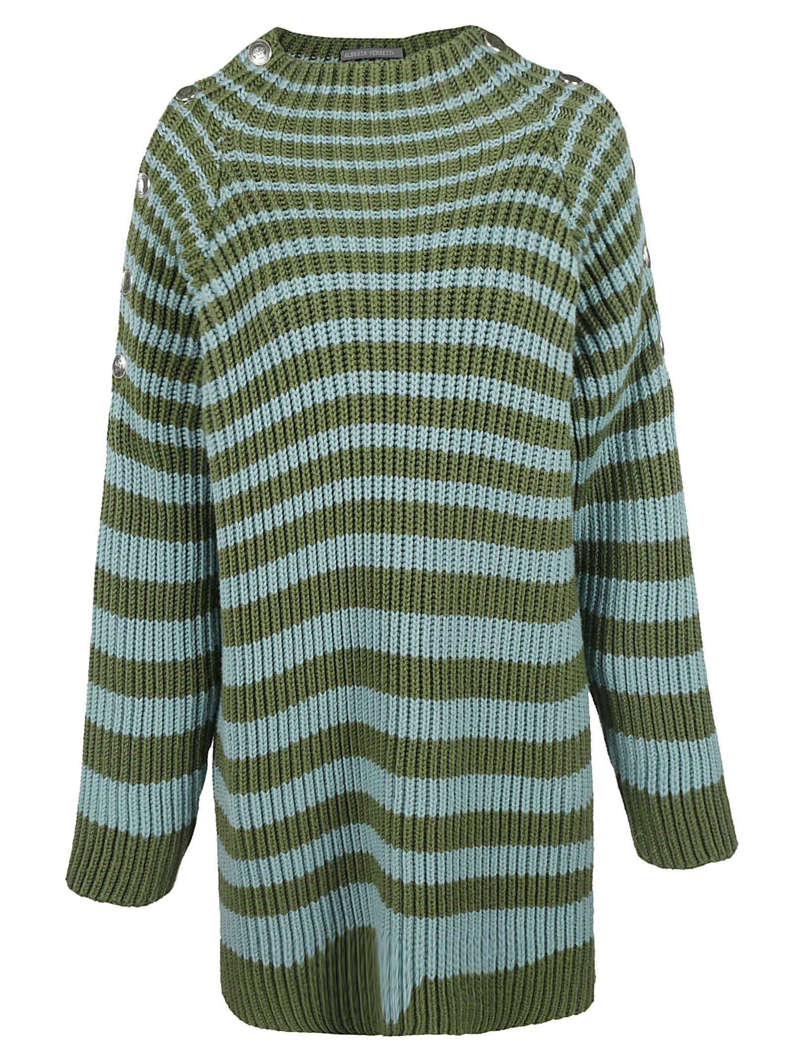 Alberta Ferretti Striped Sweater