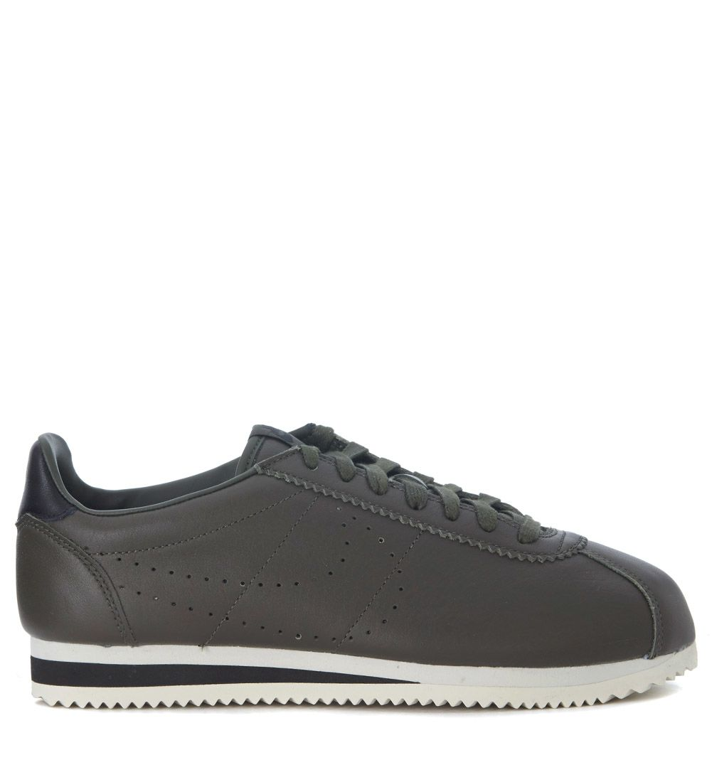 Nike Classic Cortez Olive Green Premium Leather Sneakers