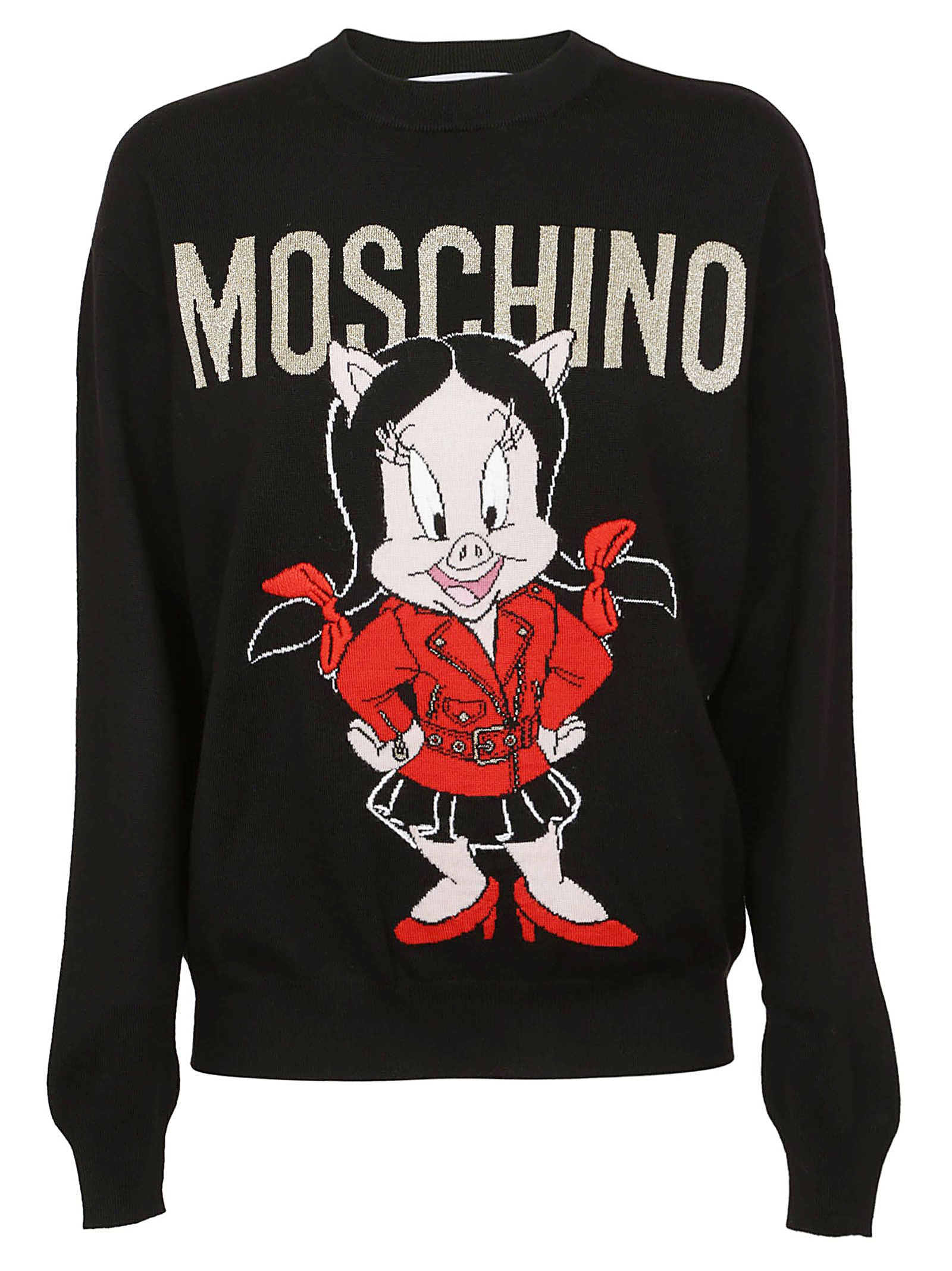 Moschino Logo Embroidered Sweater