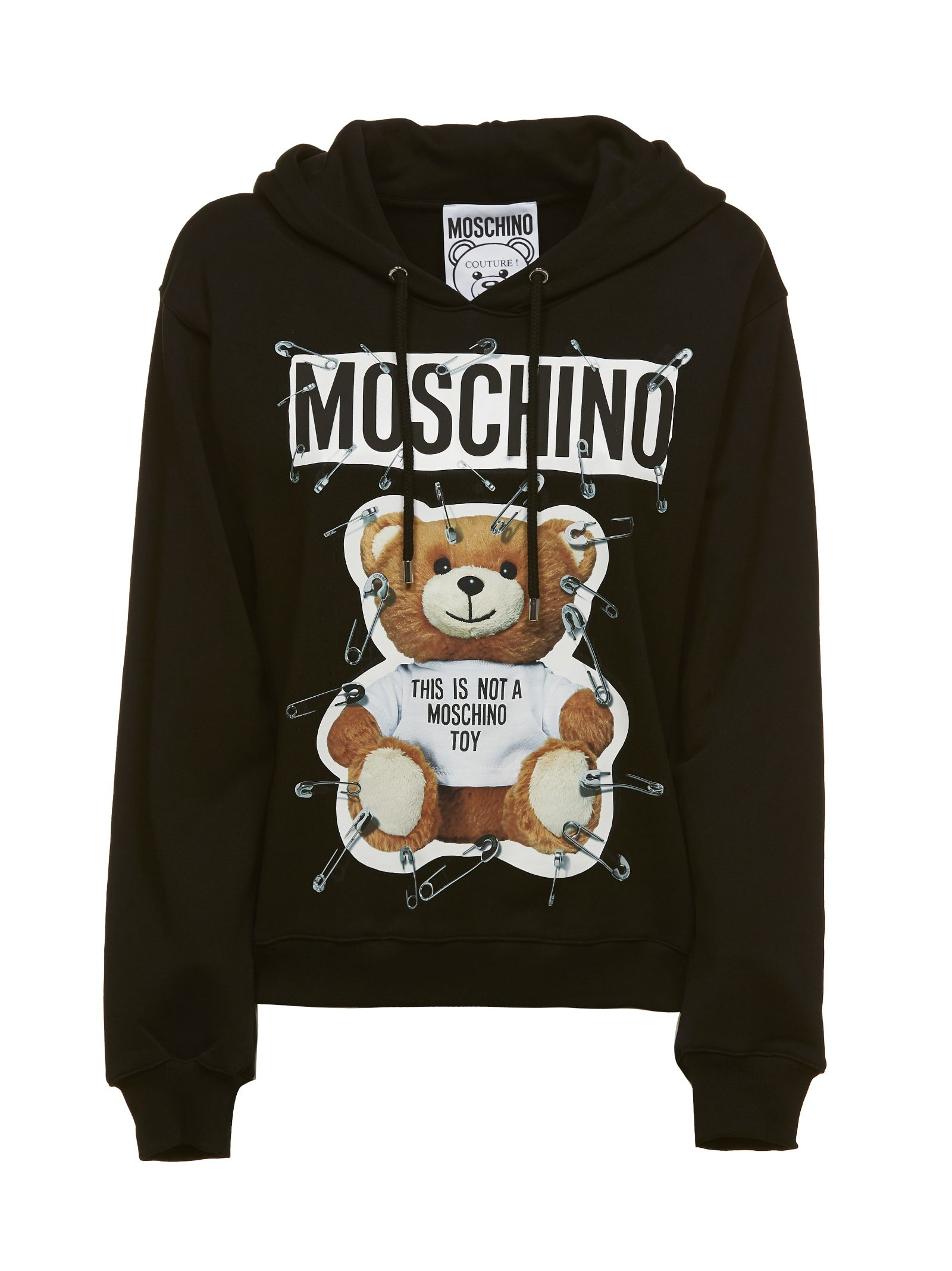 Moschino Teddy Safety Pin Hoodie