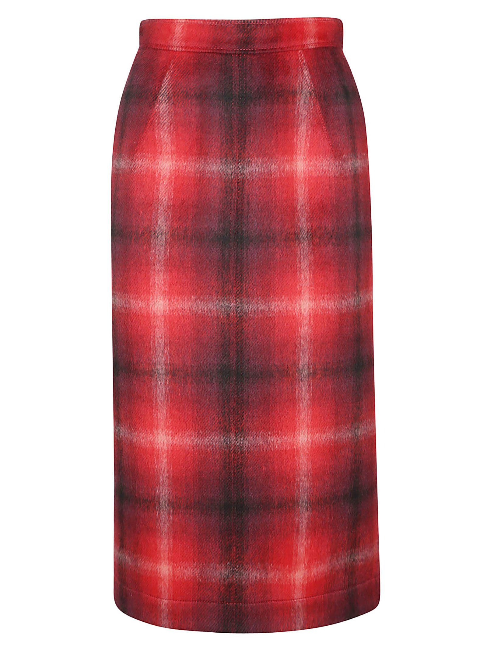 N.21 Plaid Pencil Skirt