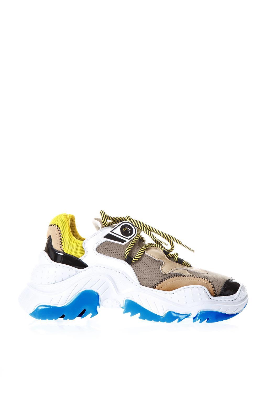n.21 -  Billy White & Beige Running Sneakers