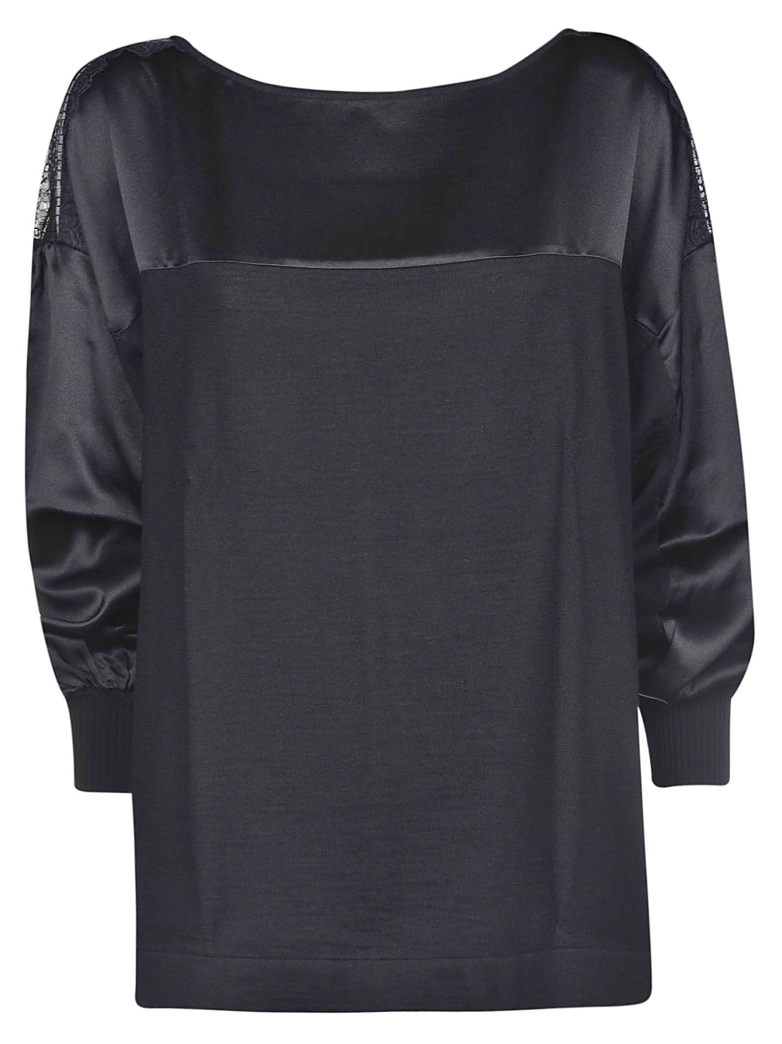 Alberta Ferretti Lace Panel Sweatshirt