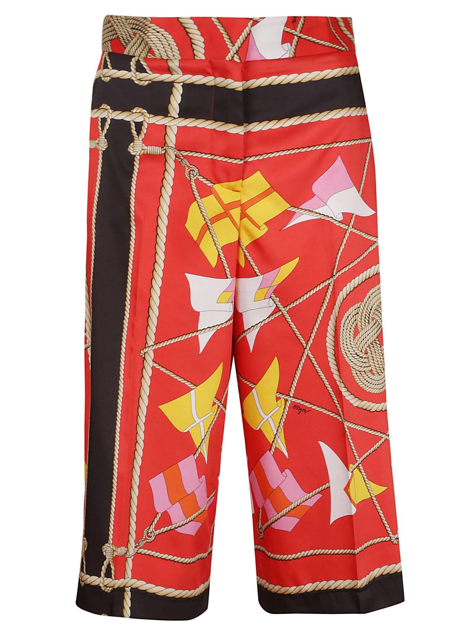 msgm -  Sail Print Trousers
