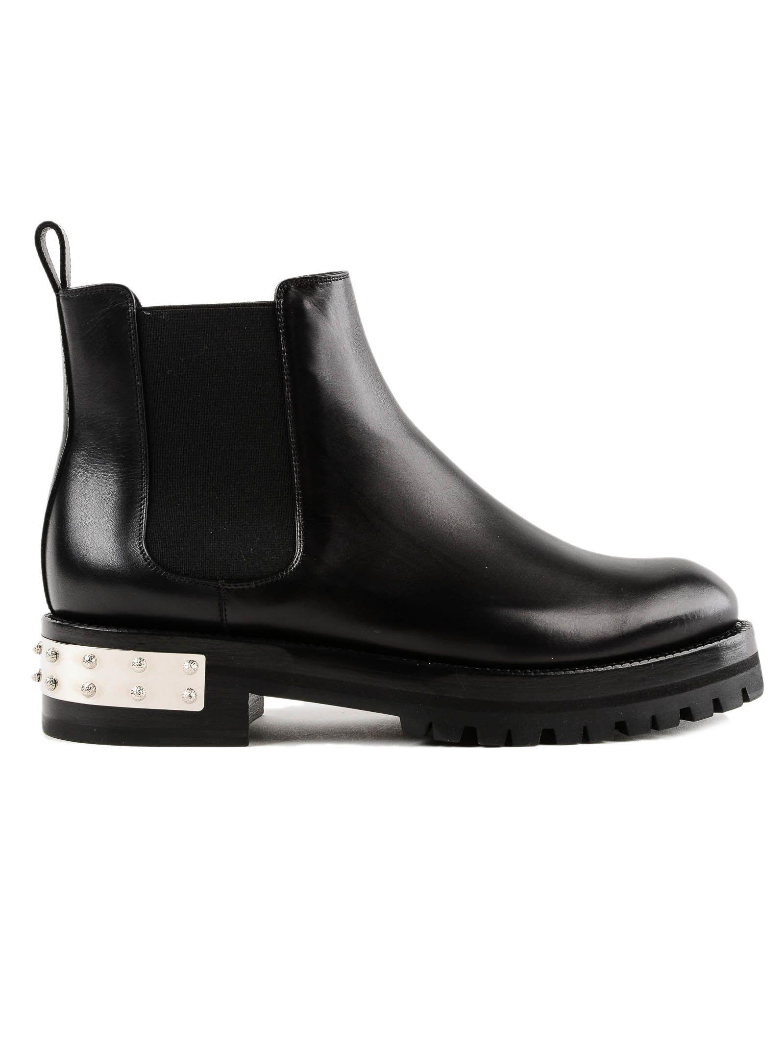 Alexander Mcqueen Flat Ankle Boots