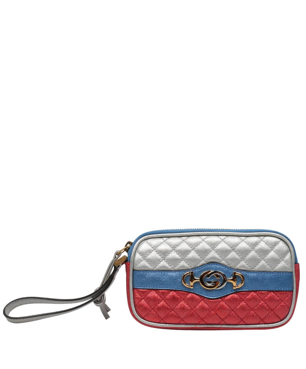 Gucci Leather Mini Striped Bag