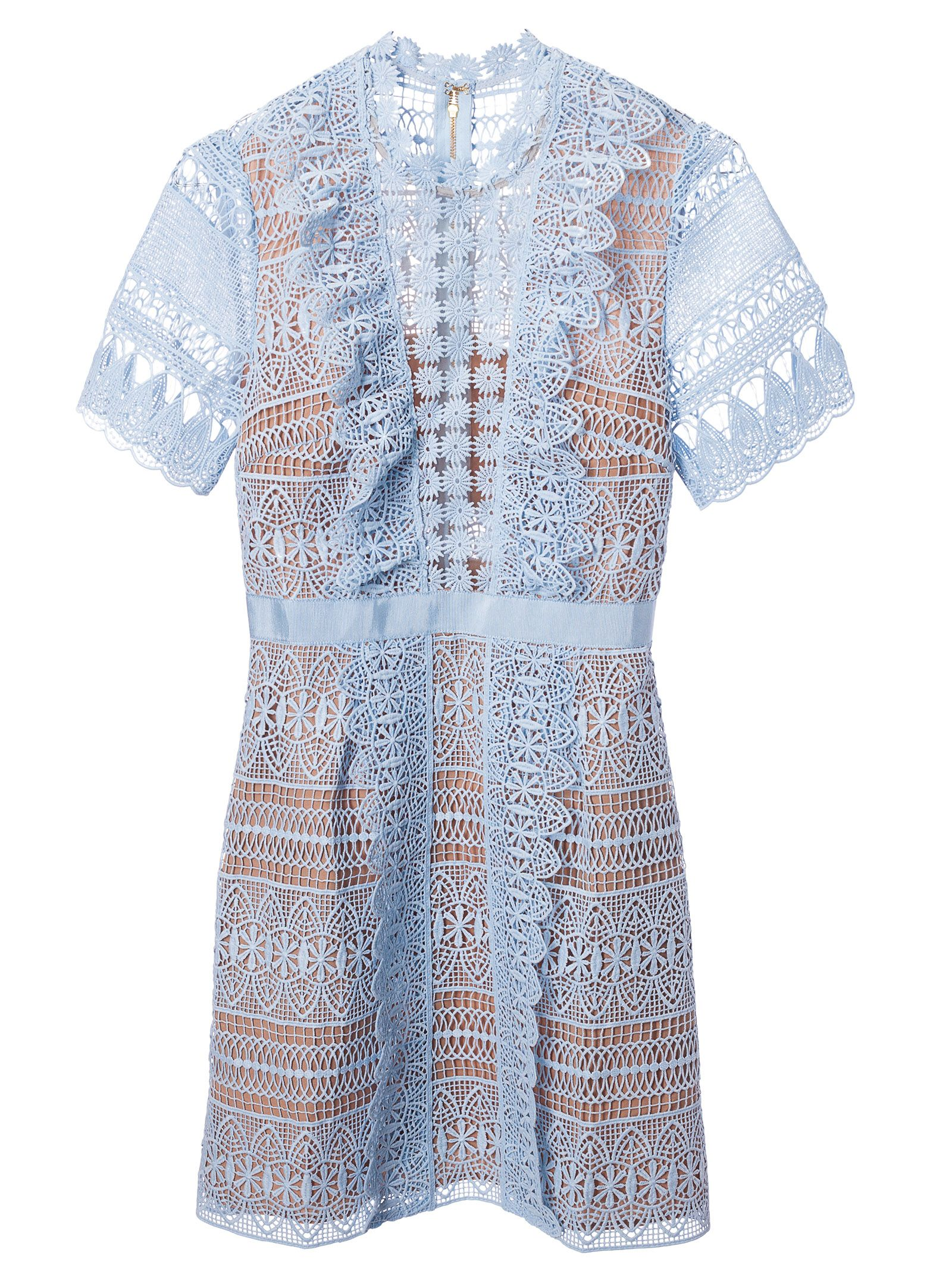 Self-portrait Spiral Panel Lace Midi Dress