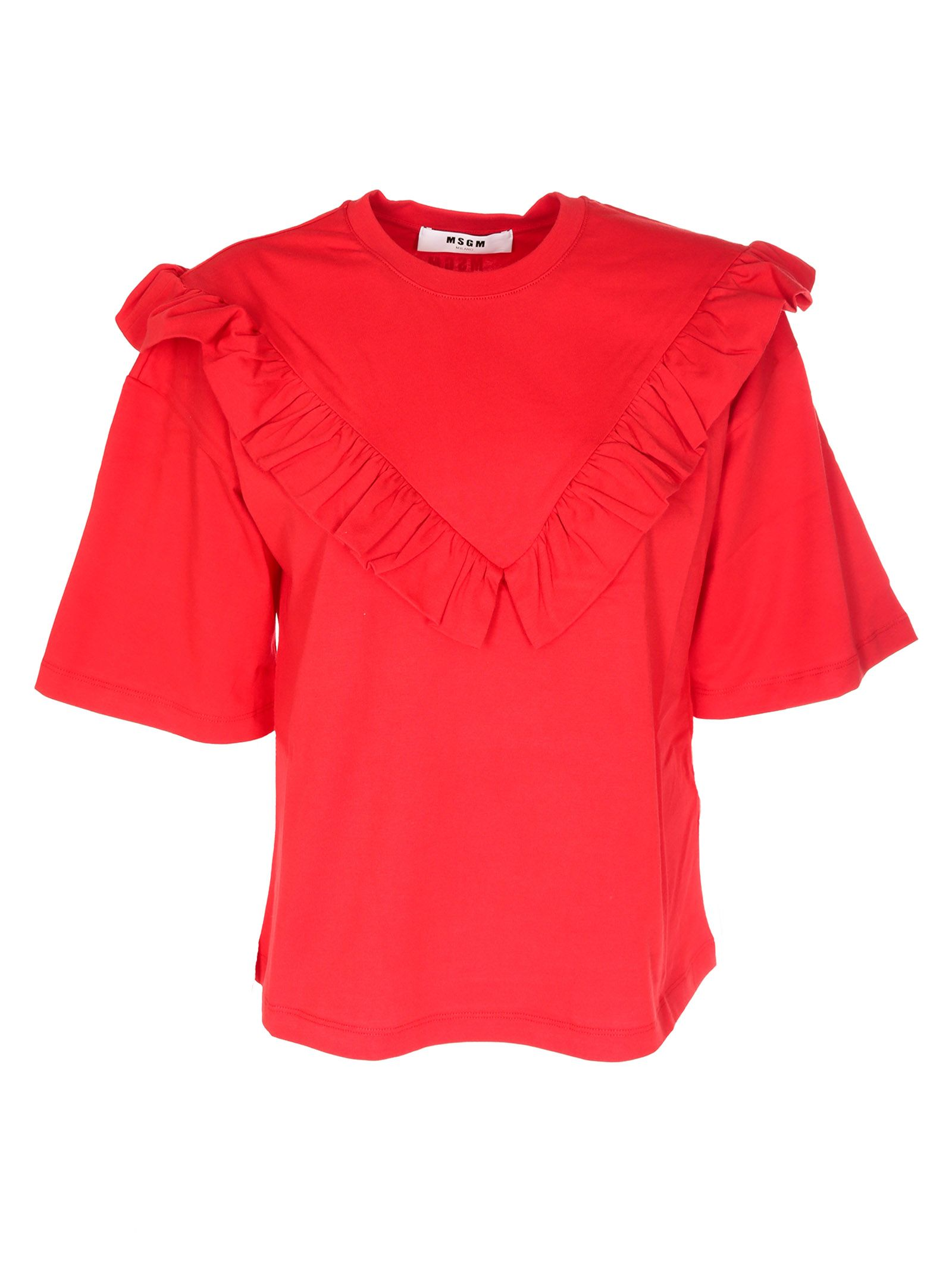 Msgm Ruffled T-shirt