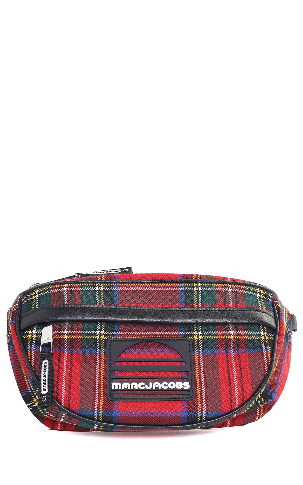 marc jacobs -  Sport Tartan-print Wool And Leather Fanny Pack