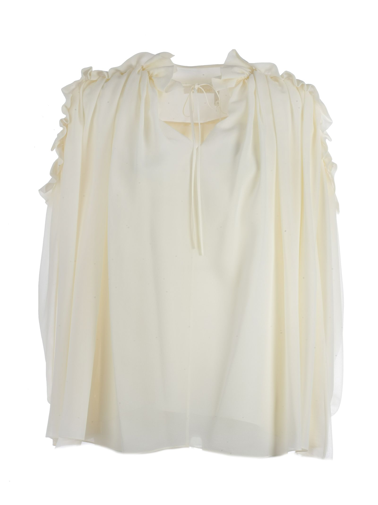 Long Sleeves Georgette - Ruches