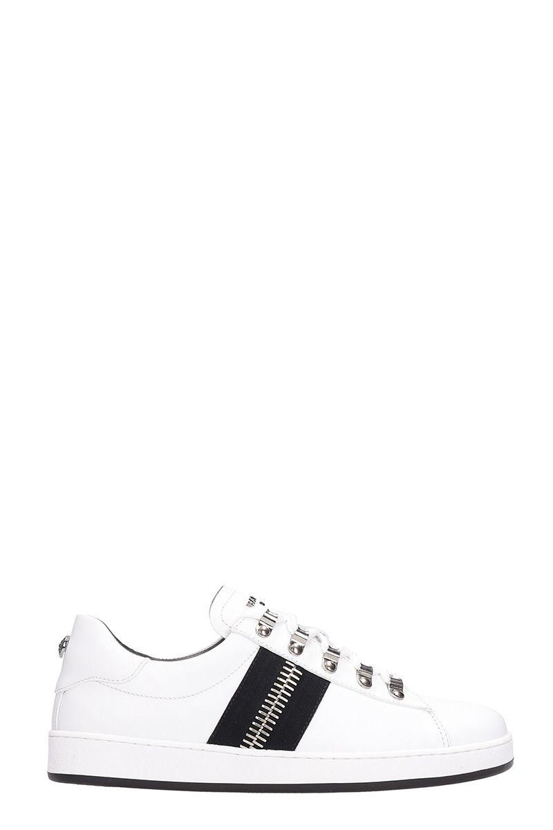 Balmain Low White Leather Sneakers