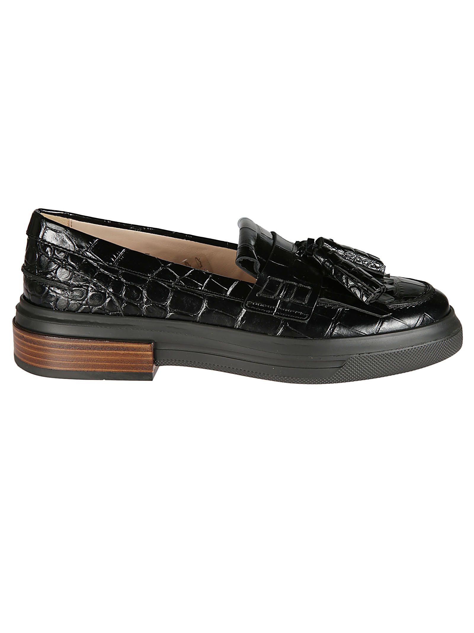 Tod's Tassel Detailed Crocodile Loafers