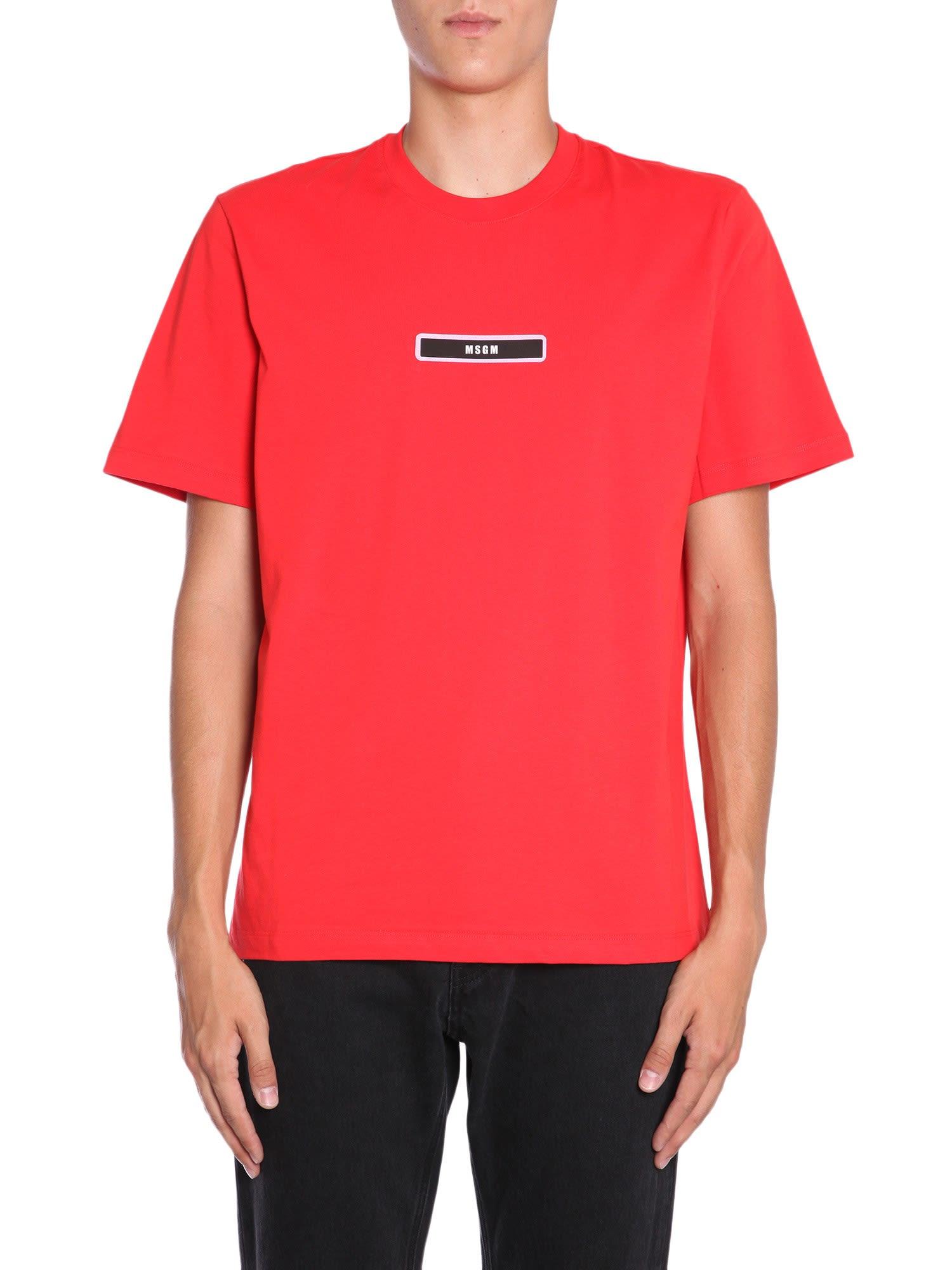 MSGM Micro Box Logo Printed T-shirt