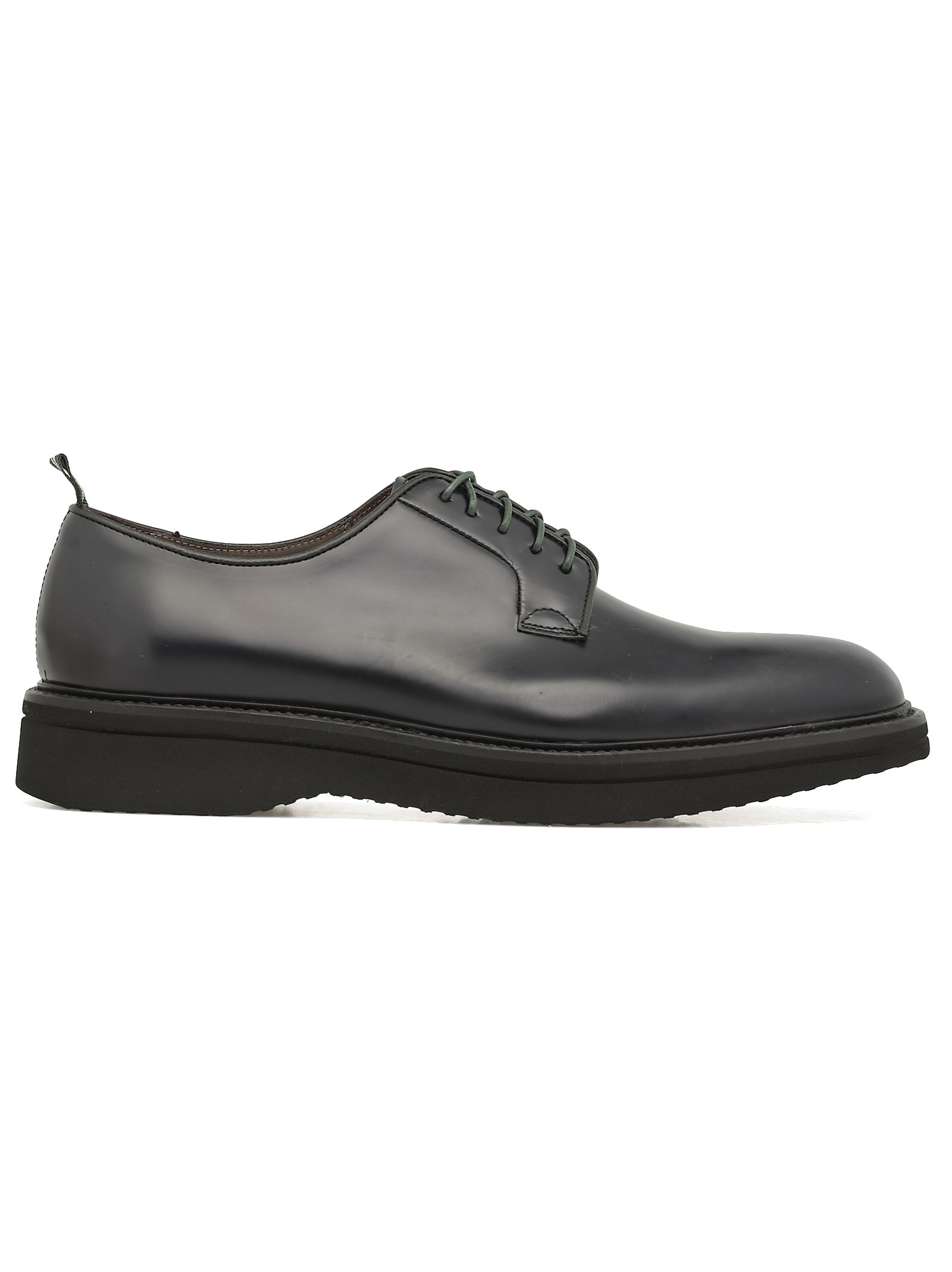 Green George Lace-up Leather Shoe