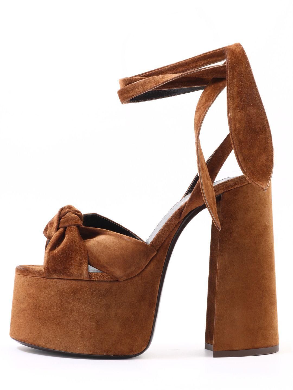 Saint Laurent Platform Sandals Suede