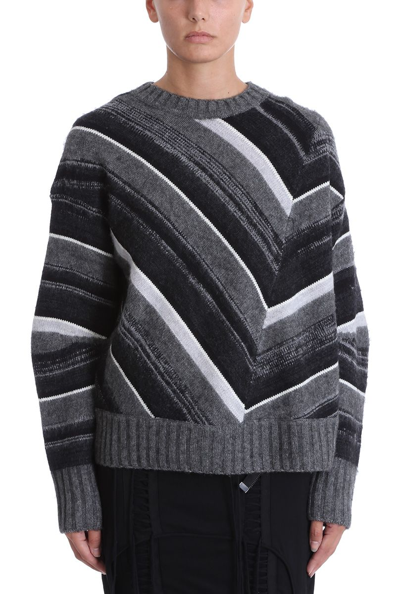 Helmut Lang Striped Crewneck Sweater