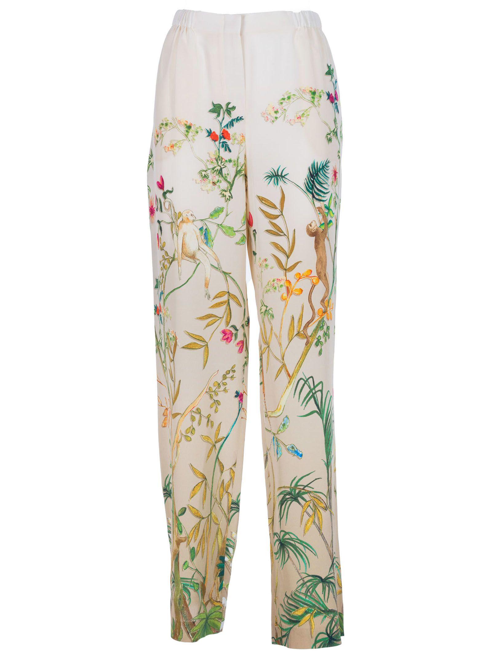Alberta Ferretti Alberta Ferreti Nature Print Trousers