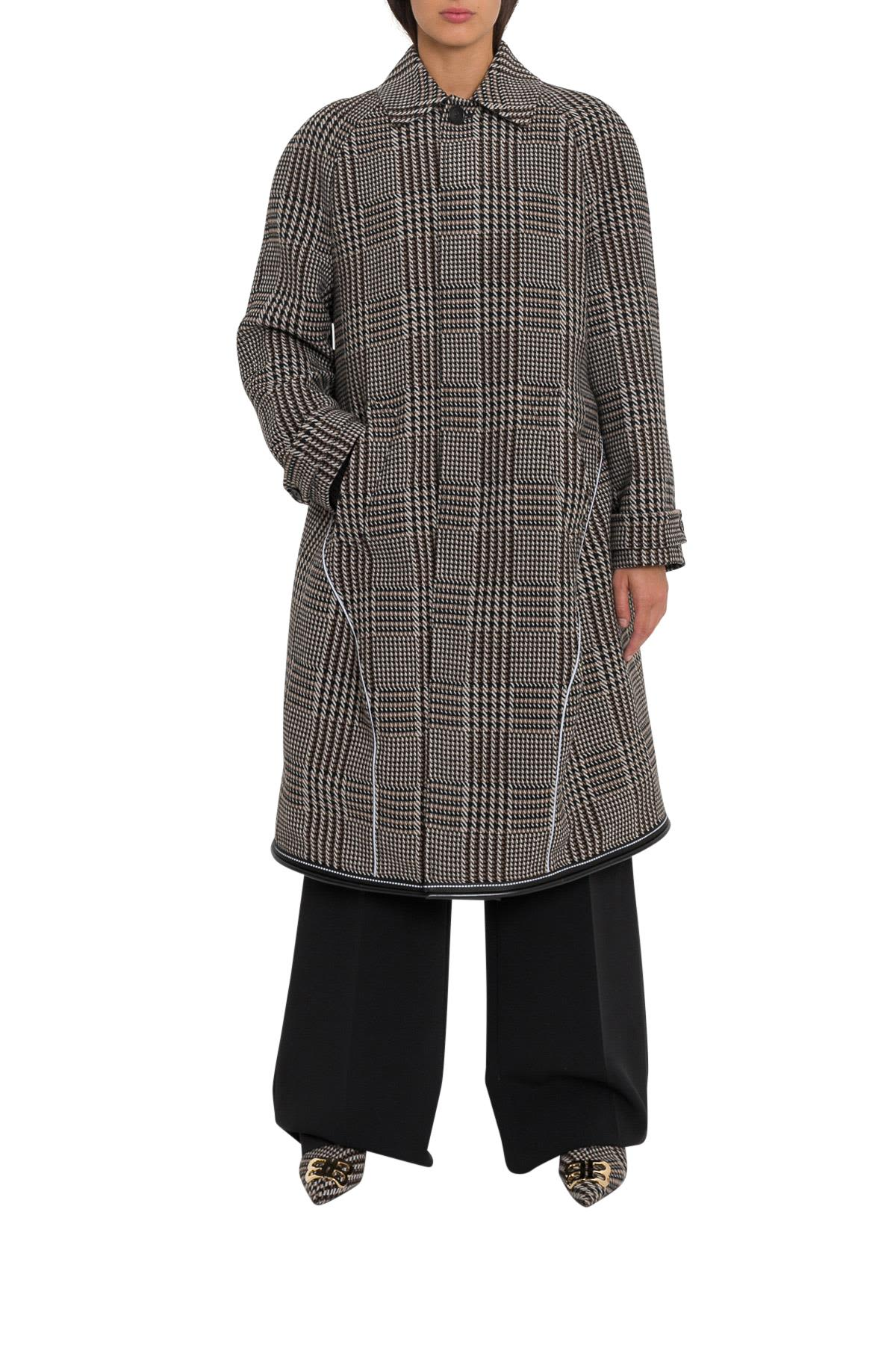 Balenciaga Prince Of Wales Oversized Coat