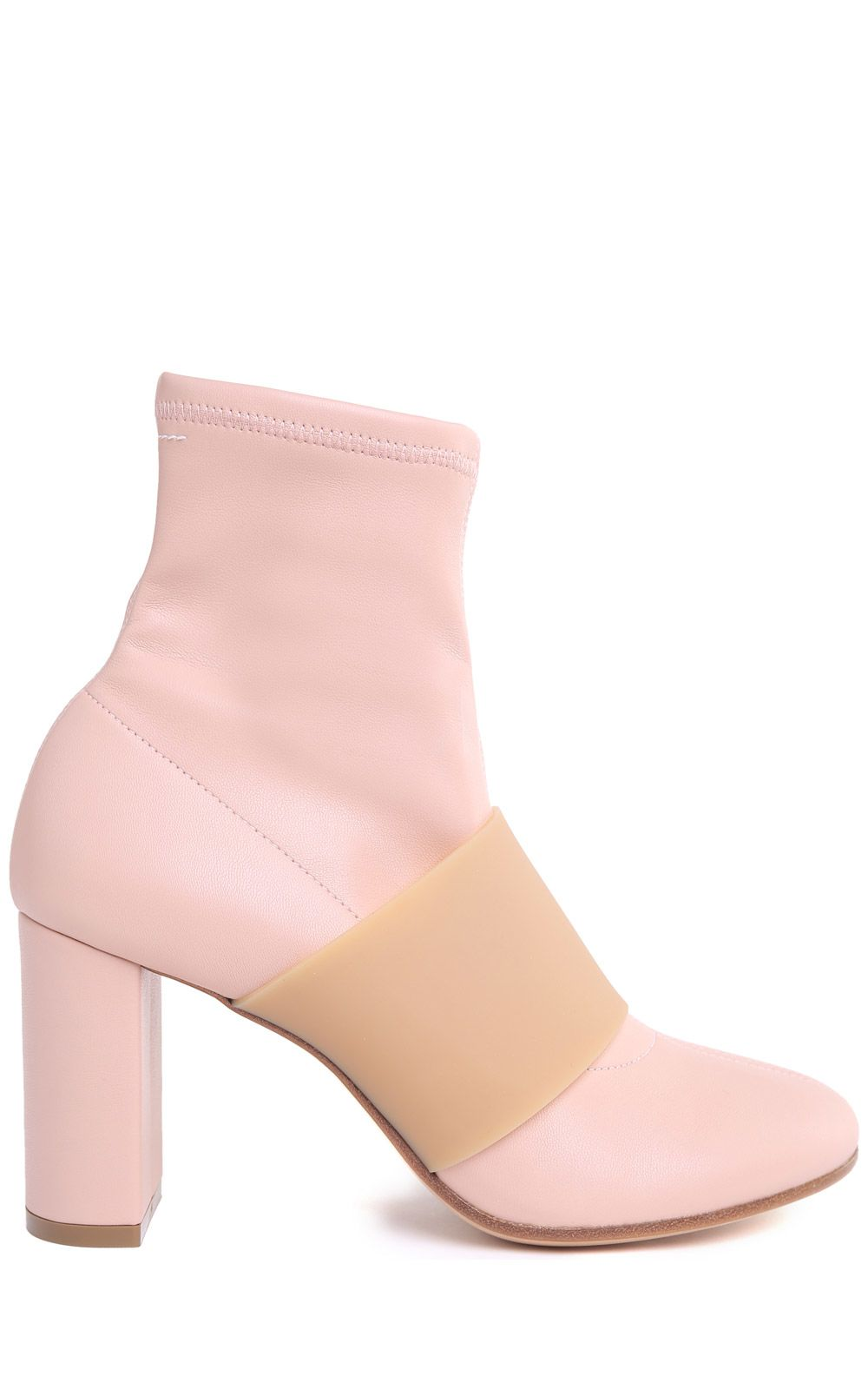 MM6 Maison Margiela Stretch-nappa And Rubber Sock Boots