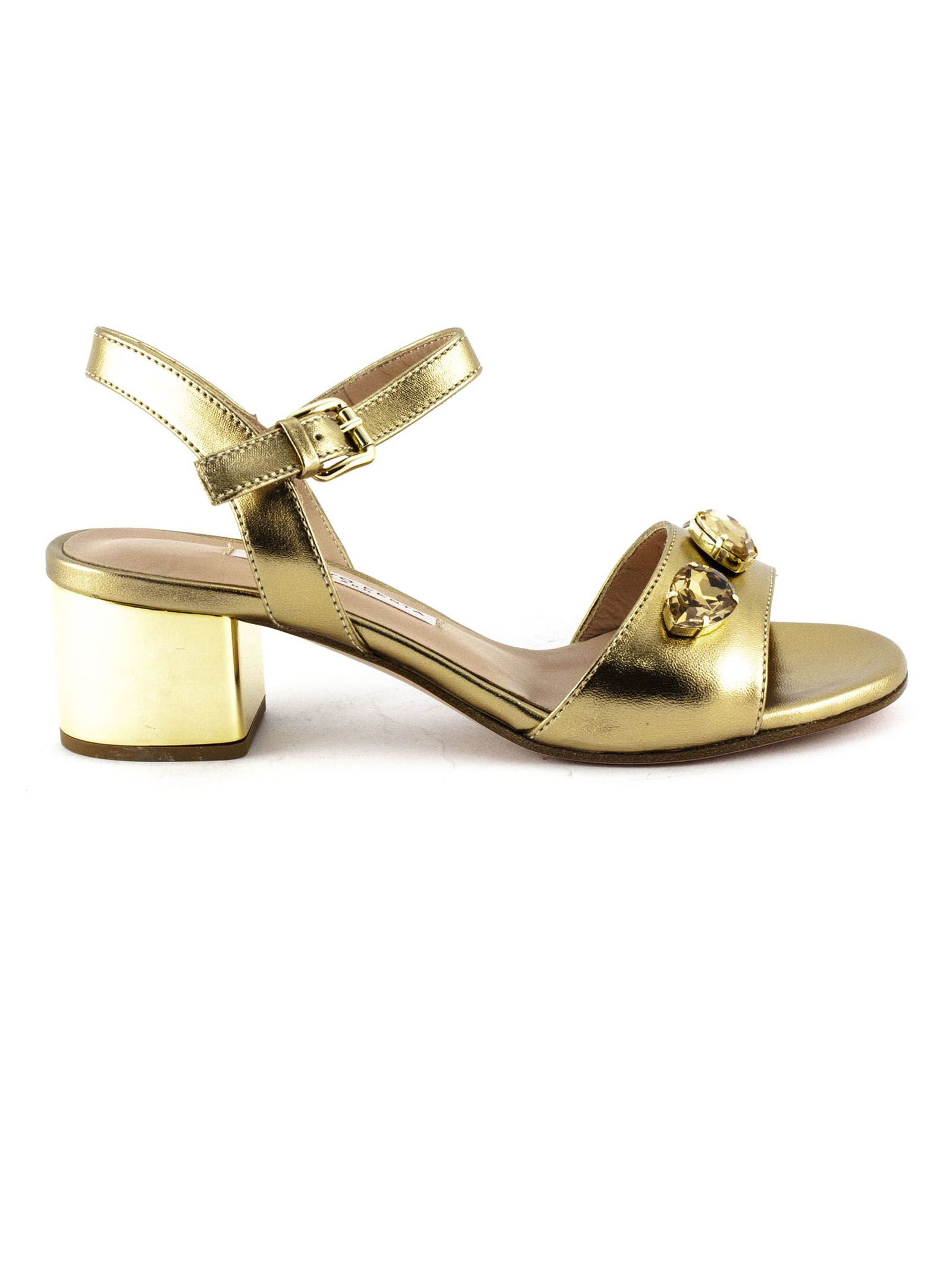 Roberto Festa Ciclamino Sandal In Mirrored Gold Leather