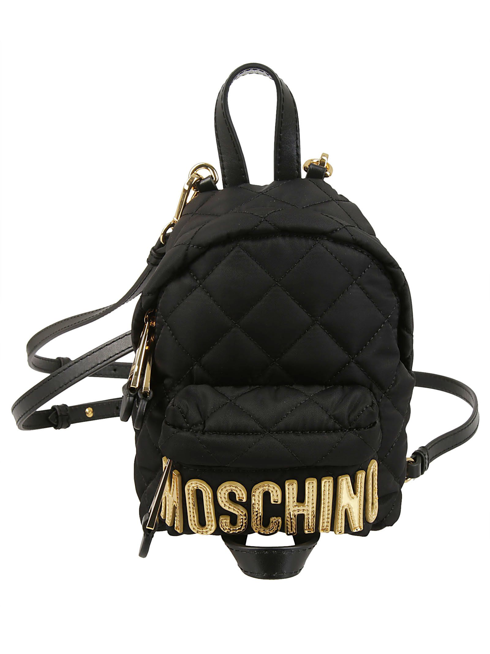 Moschino Mini Quilted Logo Backpack