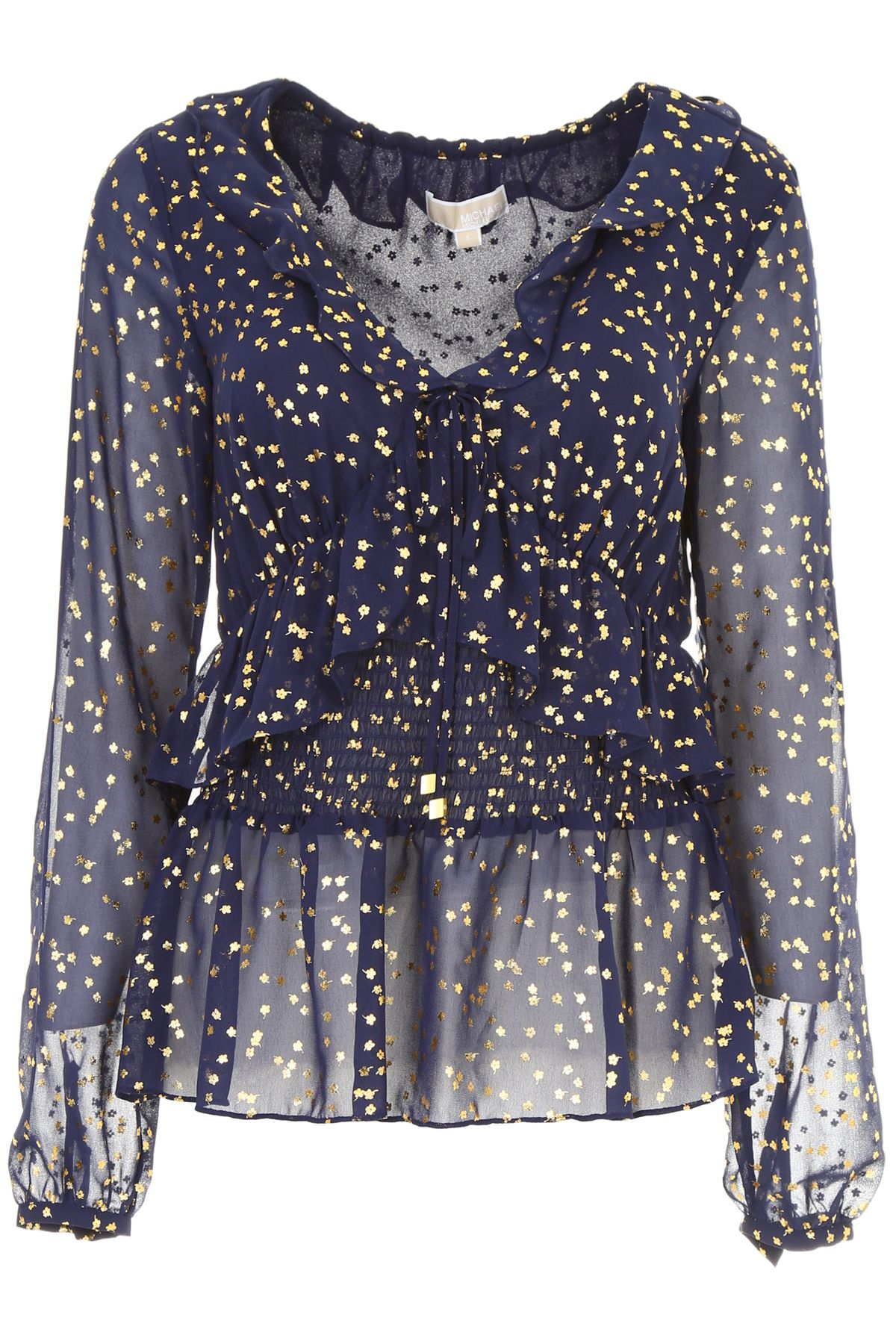 MICHAEL Michael Kors Long-sleeved Top With Gold Flowers