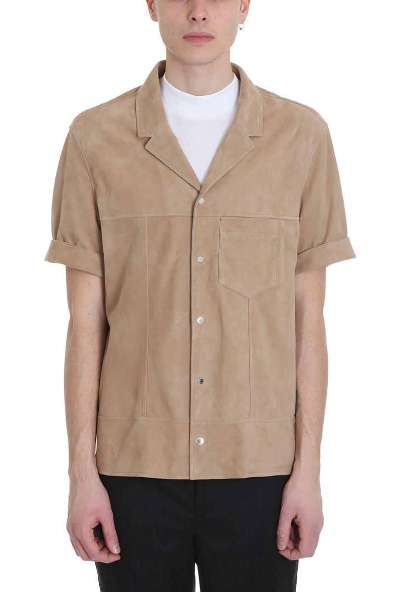 Neil Barrett Camel Suede Shirt