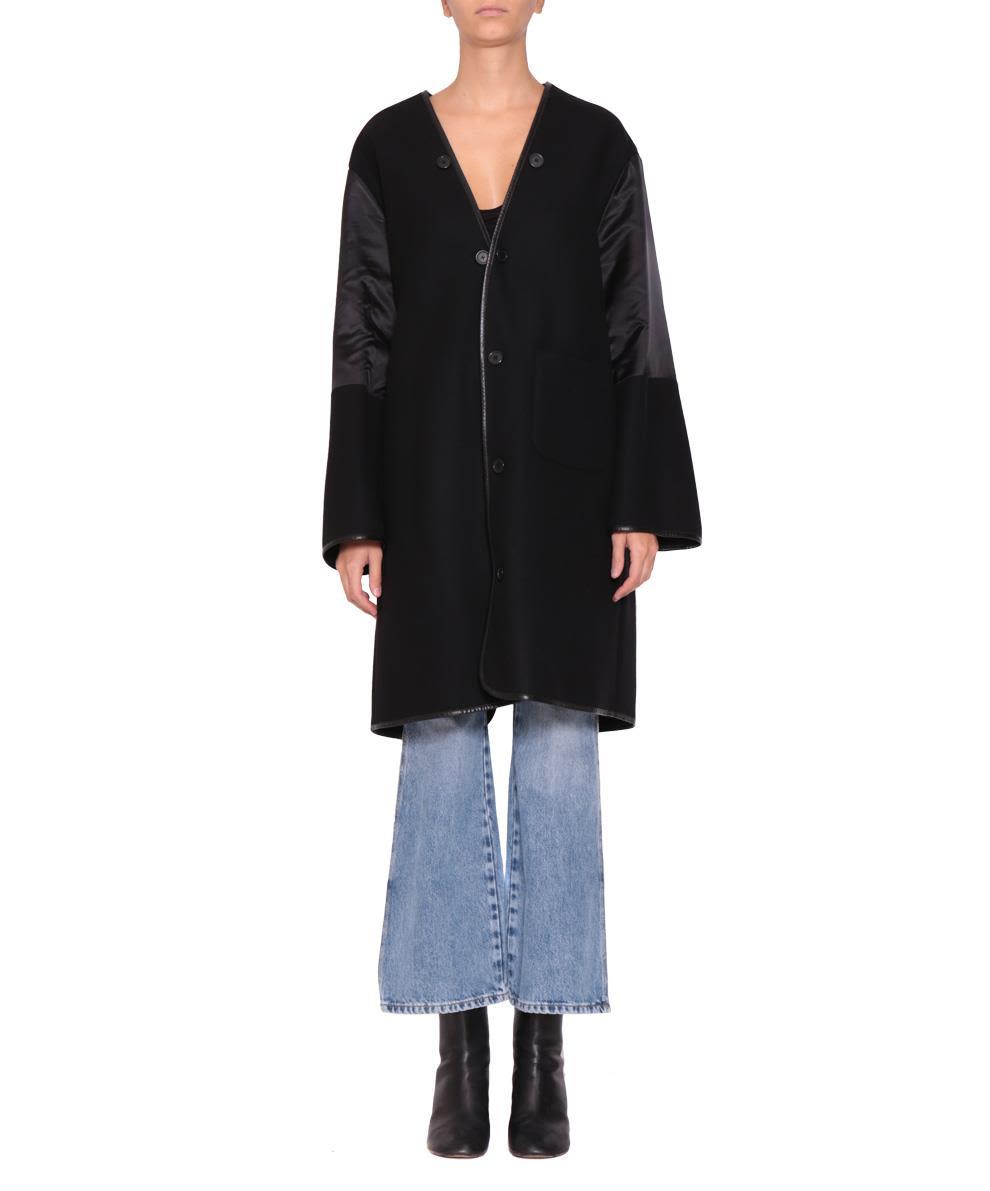 Maison Margiela Wool And Satin Coat