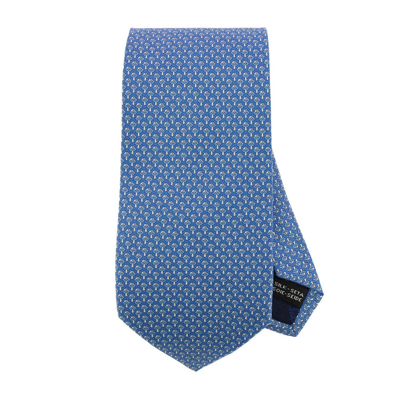 Salvatore Ferragamo Tie 8 Cm Tie In Pure Silk With All-over Mushroom Pattern