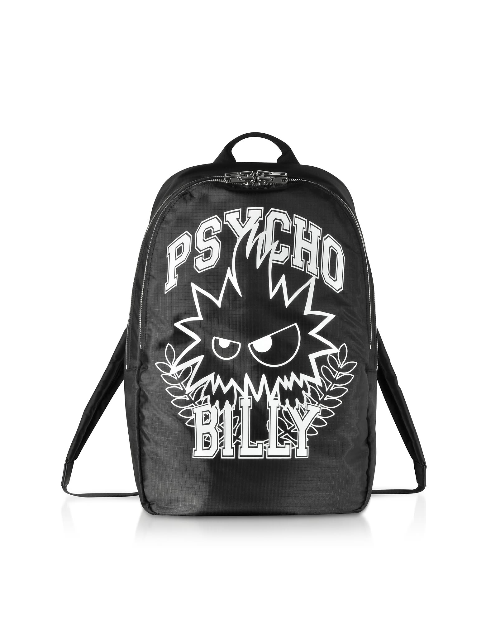 Mcq Alexander Mcqueen Psycho Billy Black Nylon Backpack