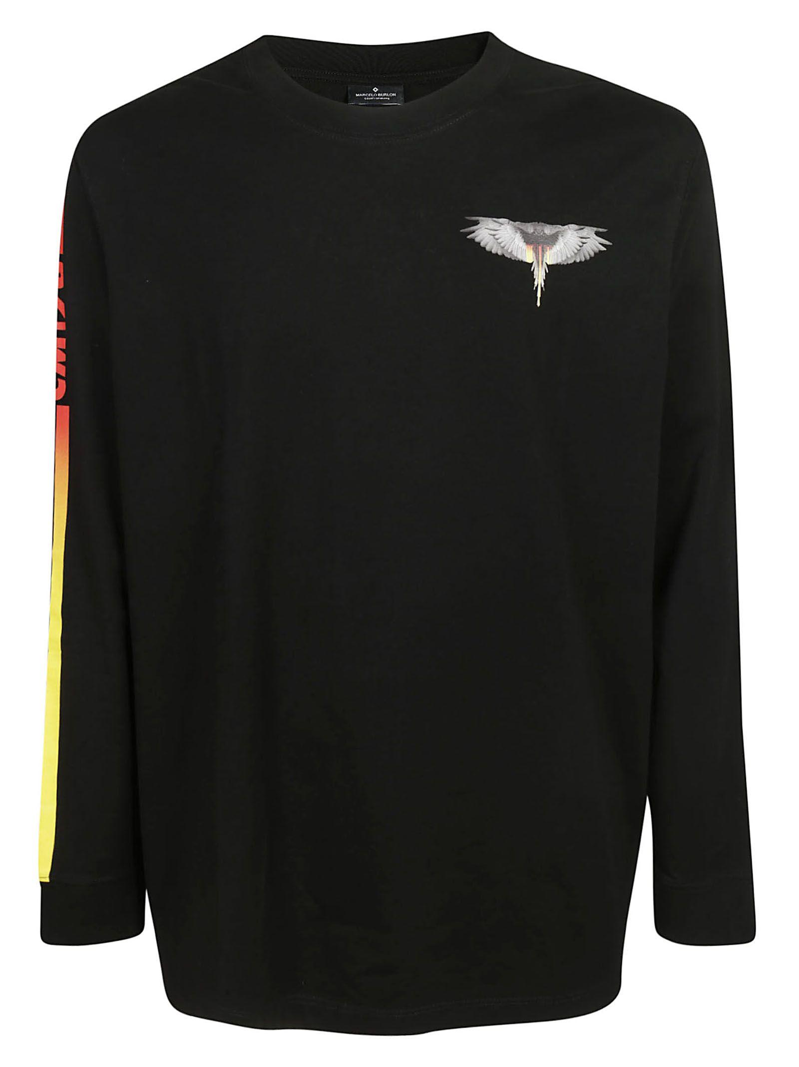 Marcelo Burlon Wings Barcode L/s T-shirt