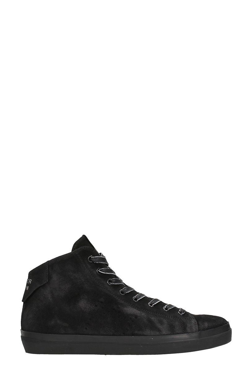 Leather Crown Black Nabuk Sneakers