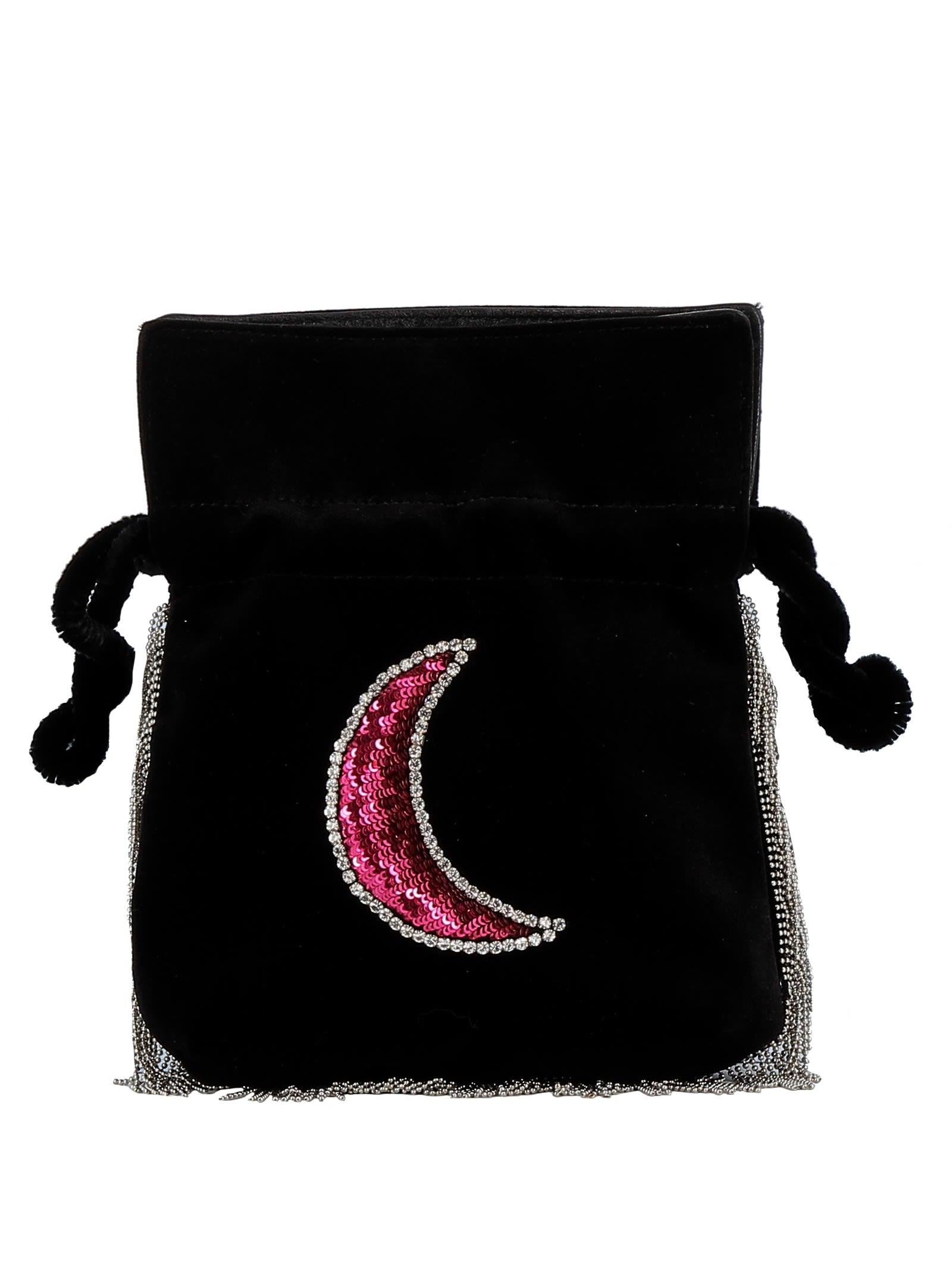 Les Petits Joueurs Black Velvet Shoulder Bag