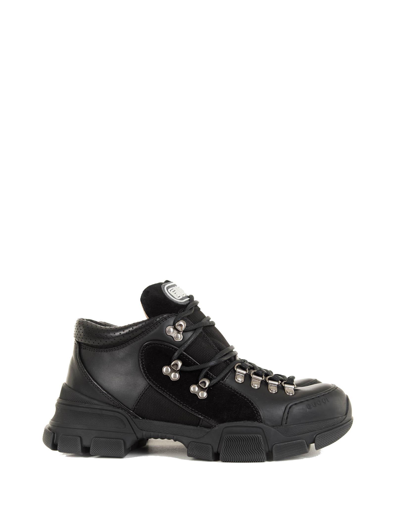 Gucci Black Leather Flashtrek