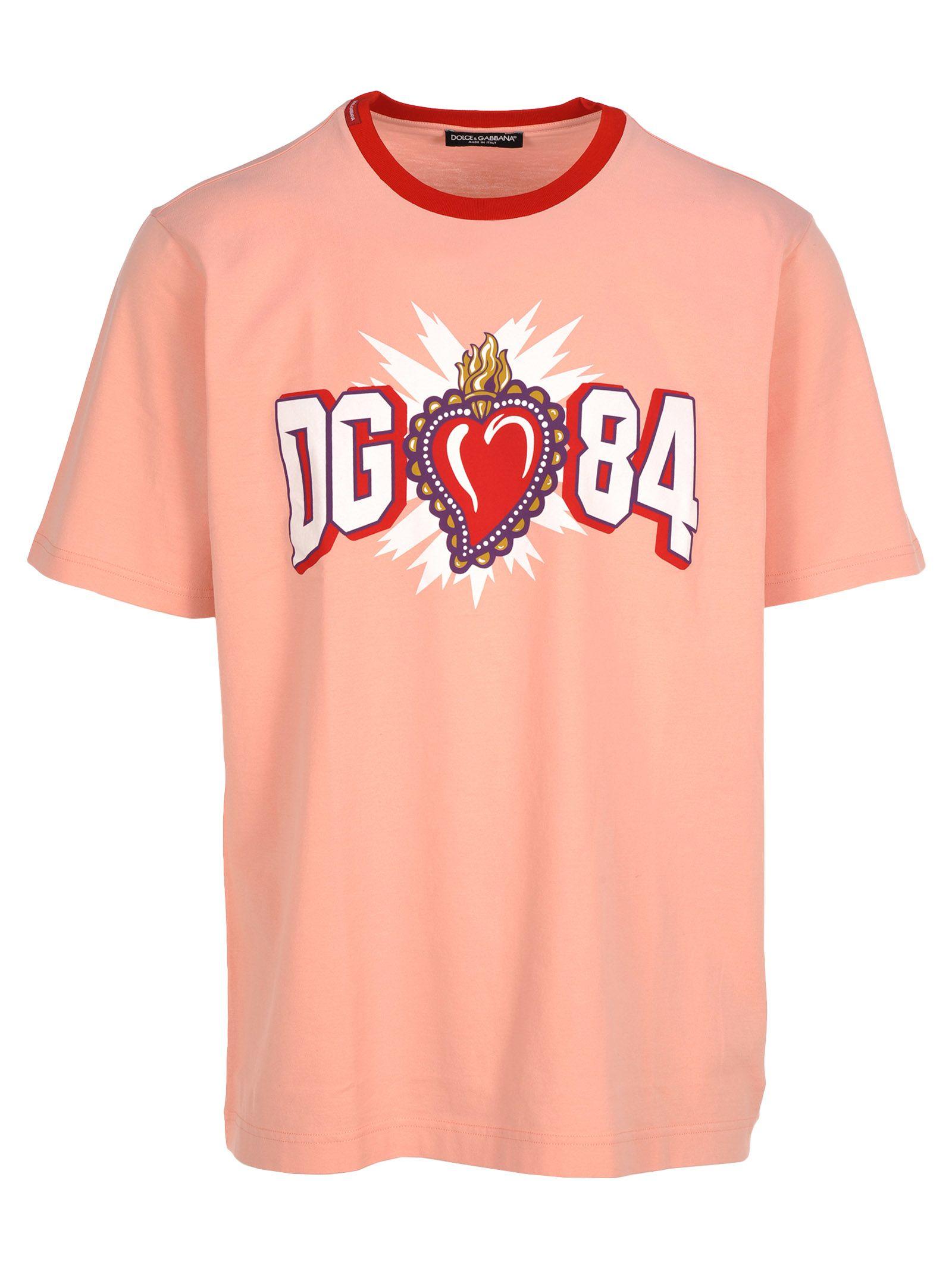 Dolce & gabbana Tshirt Logo Cuore Sacro