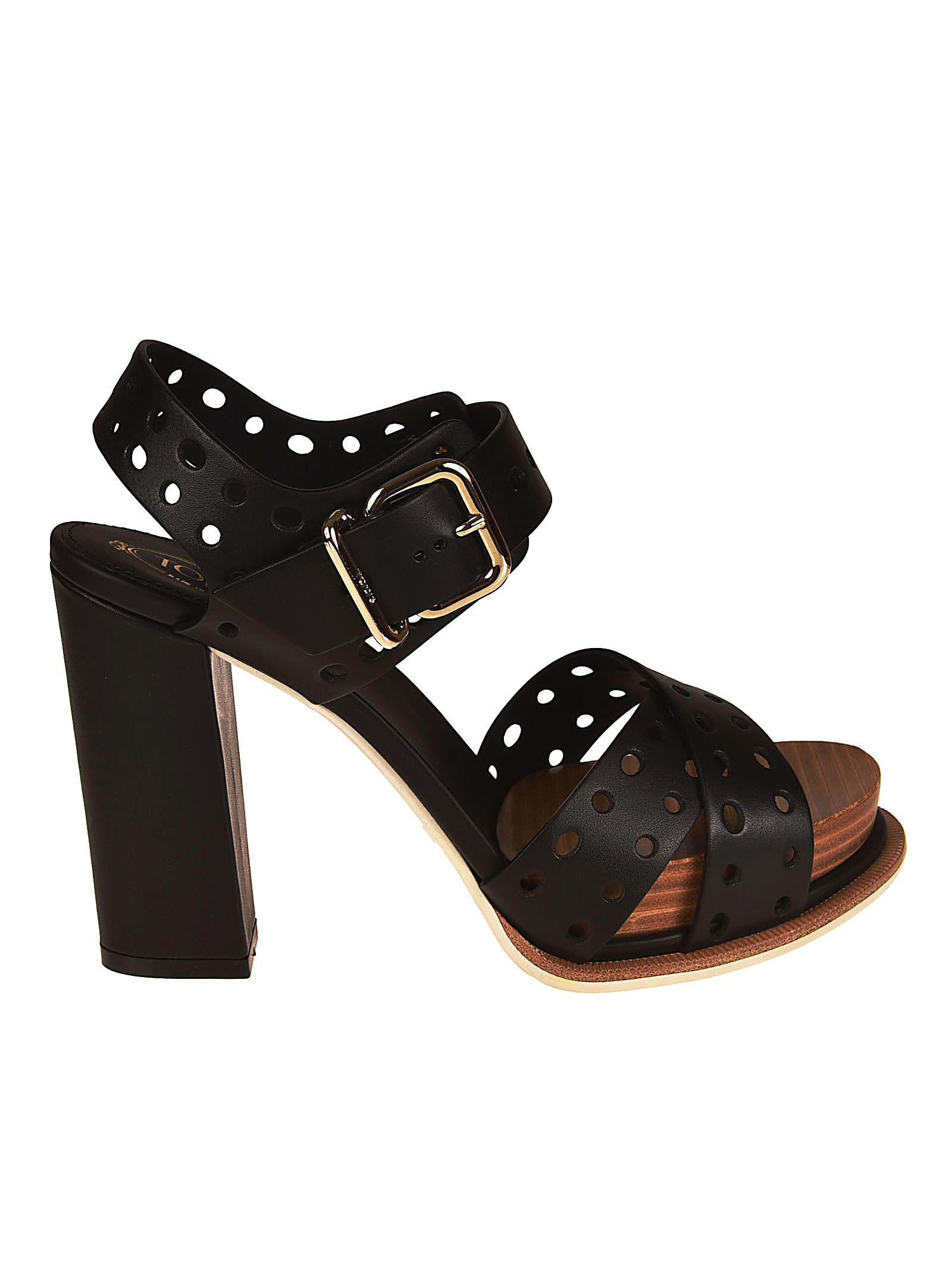 Tod's Perforated Ankle Strap Sandals