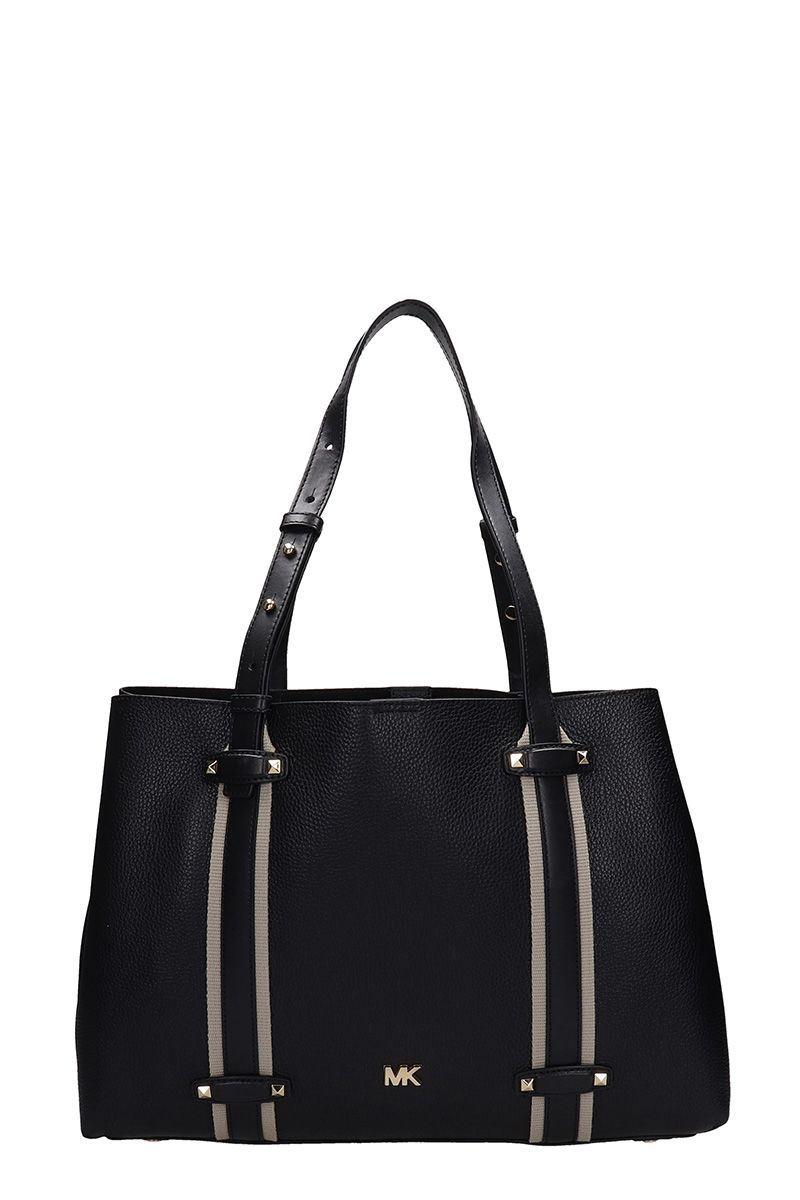 Michael Kors Black Grained Leather Tote Bag
