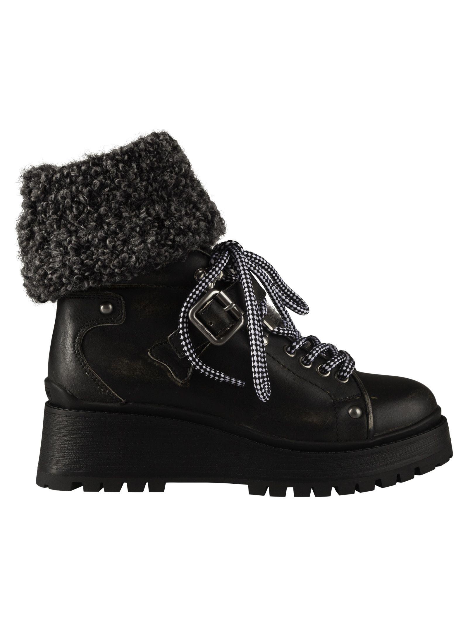 miu miu -  Buckled Ankle Boots