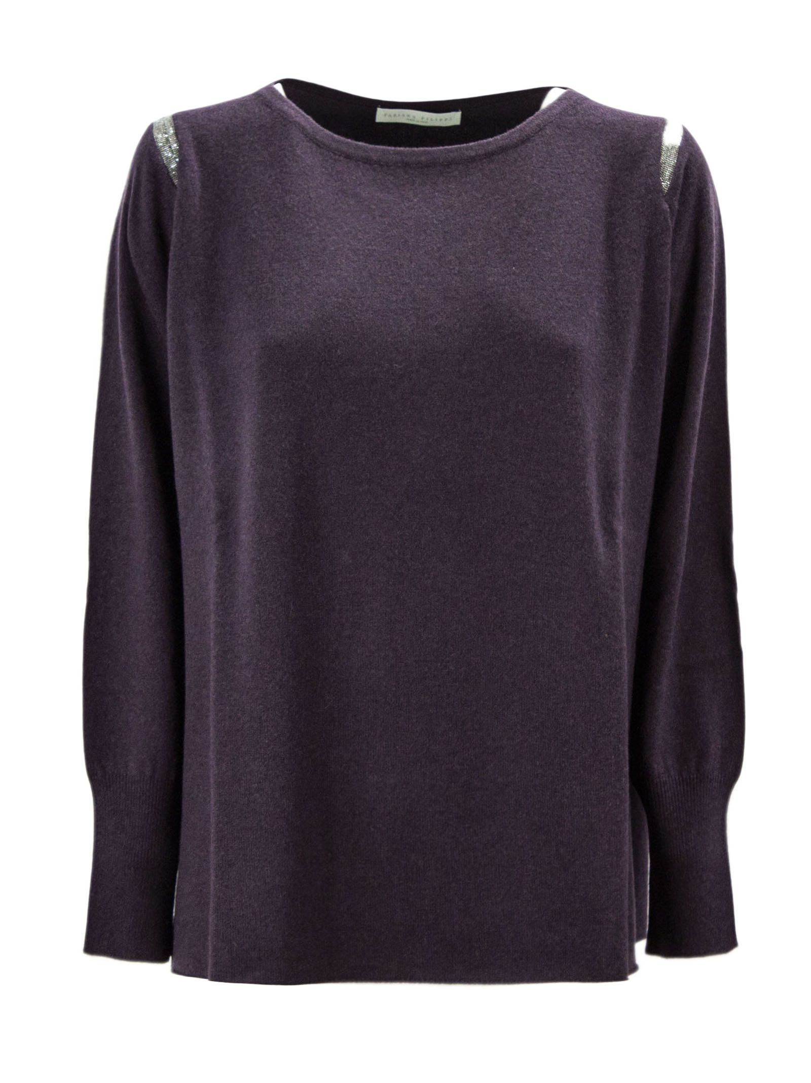 Fabiana Filippi Bordeaux Merino Wool Blend Jumper.