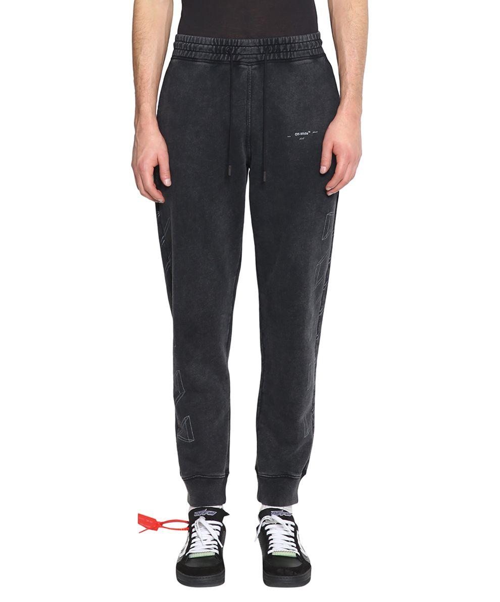 Off-White Diagonal 3d Cotton Sweatpants