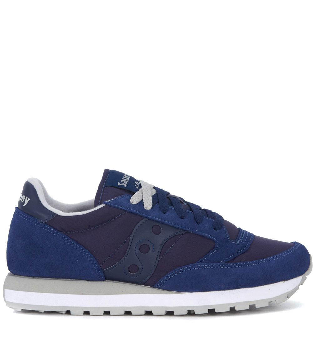 Saucony Jazz Blue Suede And Nylon Sneakers