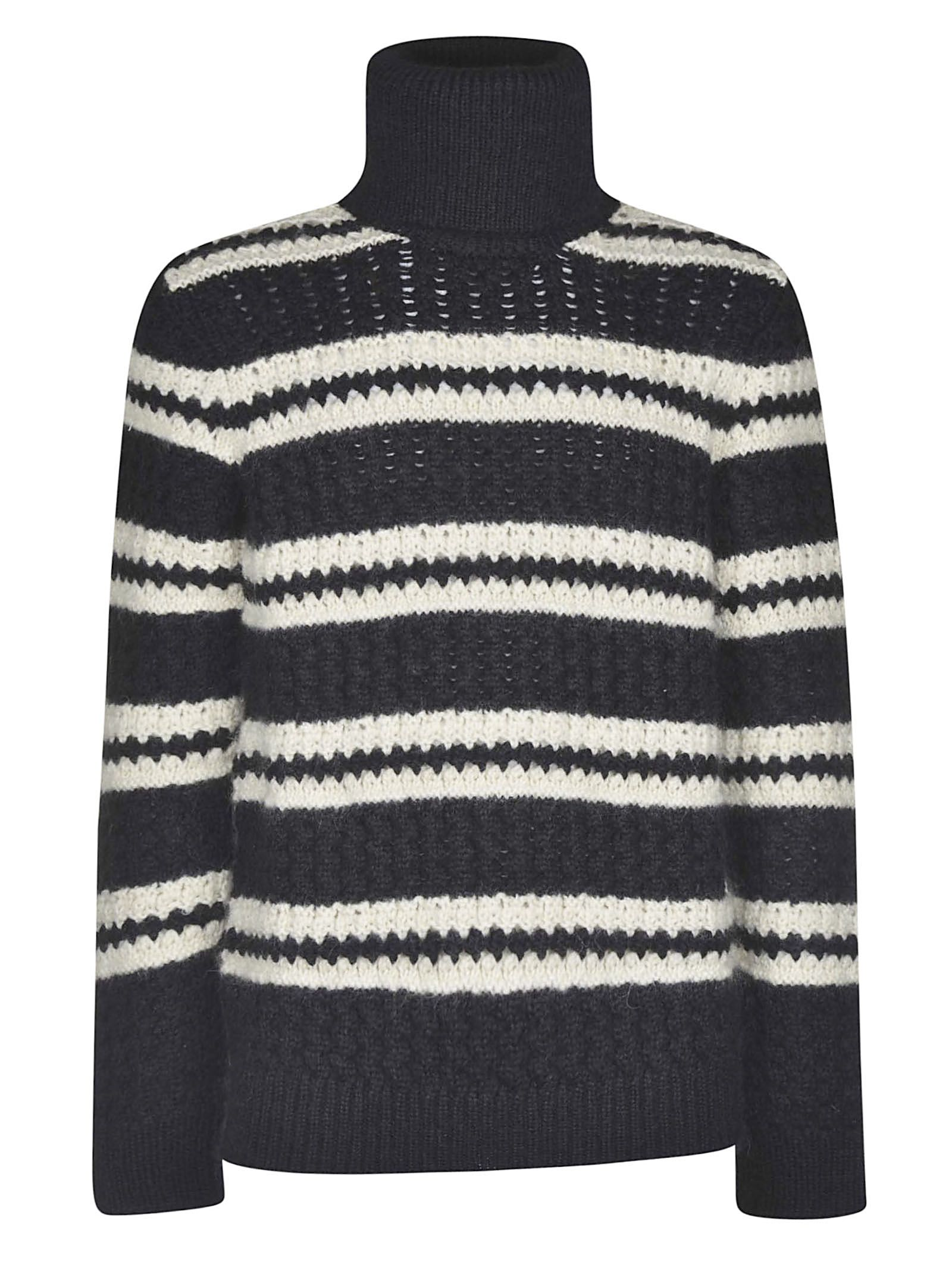 Saint Laurent Knitted Rolled Neck Sweater